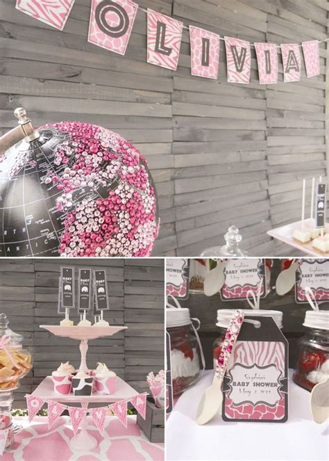 Pink Safari Baby Shower Theme by 17 Best Ideas About Safari On