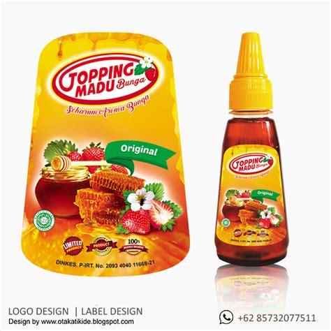 label botol madujasa desain kemasan produk ukm logo