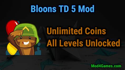 bloons td 5 hacked apk bloons td 5 mod unlimited coins all levels unlocked mod4games