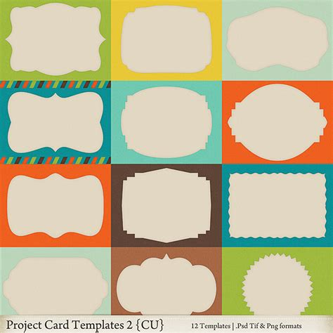 card templates and projects project card templates 2