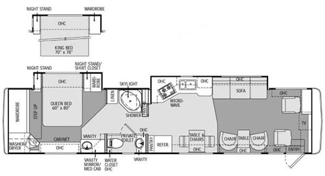 monaco rv floor plans 2002 monaco windsor 40pkd photos details brochure