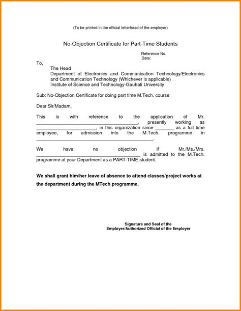 letter of objection template no objection letter format for employer the letter sle