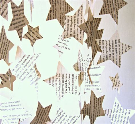 How To Make Paper Garland Decorations - eco paper garland vintage paper decor paper by