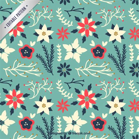 cute holiday pattern floral christmas pattern in cute style vector free download