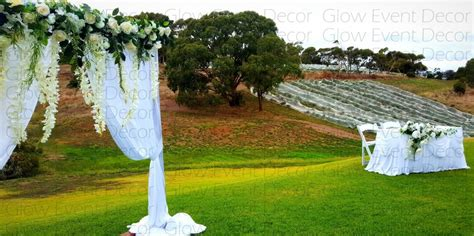Wedding Arch Hire Adelaide by Ceremony Arches Accessories Glow Event Decor