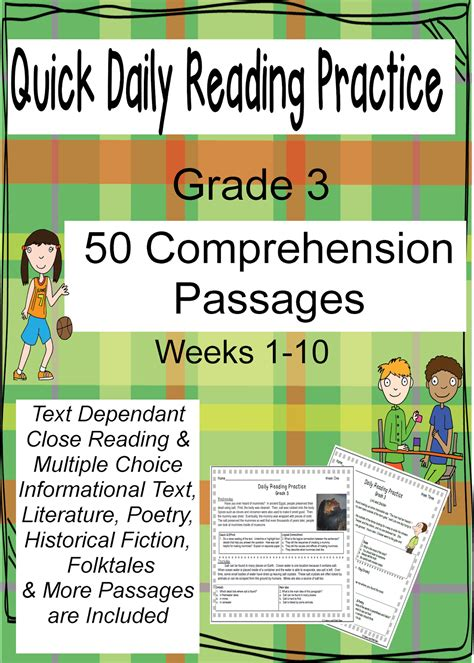 reading comprehension test practice literacy math ideas daily reading comprehension