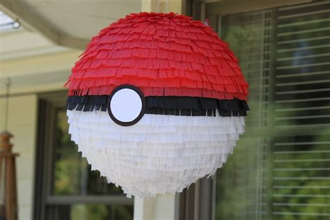 How To Make A Pinata With Tissue Paper - pokeball pinata will make with paper mache and paint