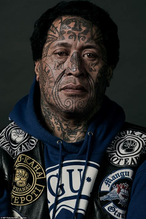 gang face tattoos new zealand black power captured in striking pictures