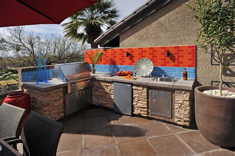 backyard cooking area outdoor cooking station deck traditional with arbors area