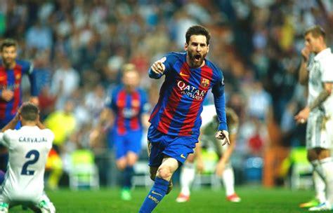 imagenes de real madrid vs barcelona la liga lionel messi scores 500th as barcelona beat real