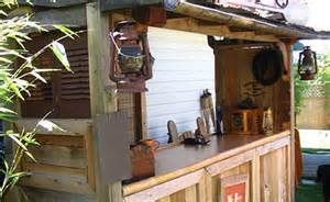 looking to build a tiki bar in your backyard free plans