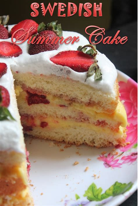 Reader Recipe Swedish Strawberry Cake by Swedish Summer Cake Recipe Strawberry Cake Recipe