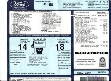 ford window sticker manufacture date