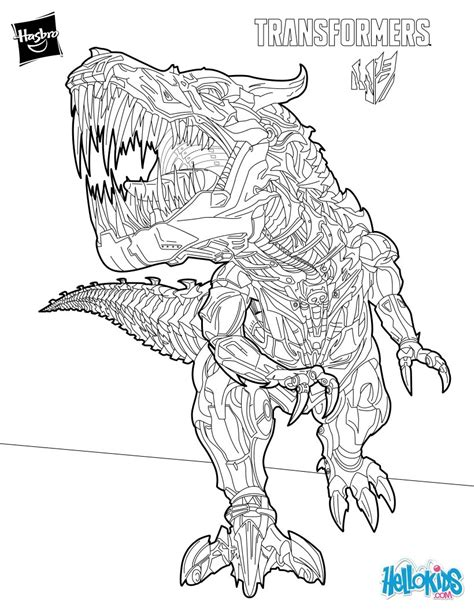 Coloring Pages Transformers Grimlock | grimlock coloring pages hellokids com