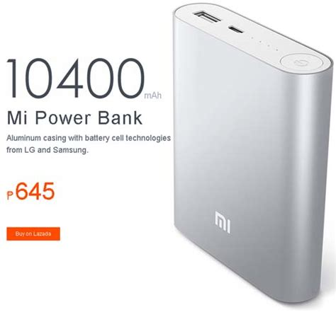 Power Bank Mi Lazada xiaomi mi 5200 and 10400 mah power banks at p445 and