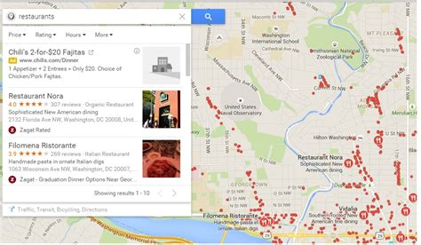 search in maps find or search nearby restaurants shops malls or any