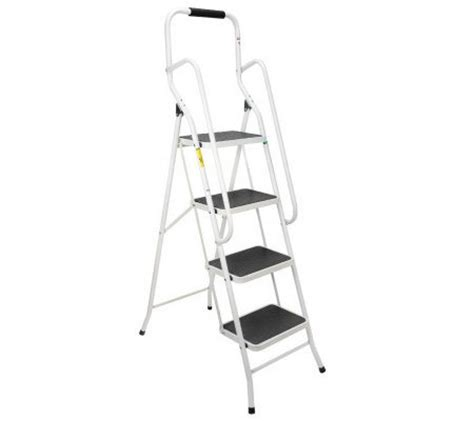 4 Step Safety Ladder With Handrails by Ez Tools Safety Step Ladder With Handrails Comfort Step