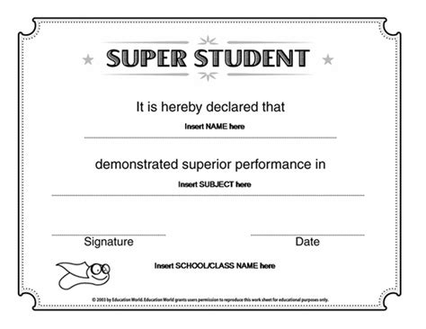 Microsoft Word Super Student Certificate Template Award Certificates Ready Made Office Templates Microsoft Word Template Certificate
