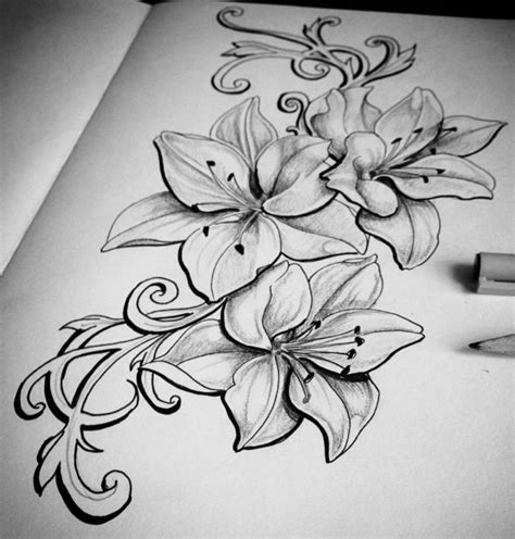 but with orchids would be better my tattoo ideas