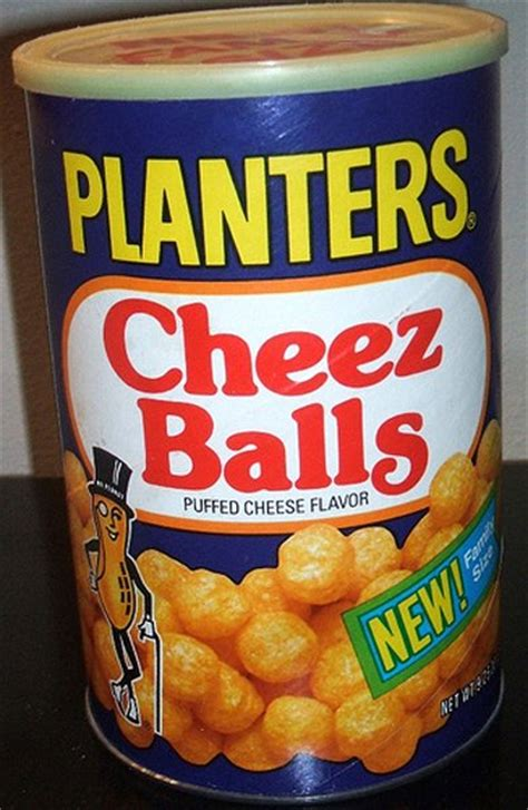 Planters Cheez Balls In A Can by 26 Discontinued Foods That We Need To Bring Back
