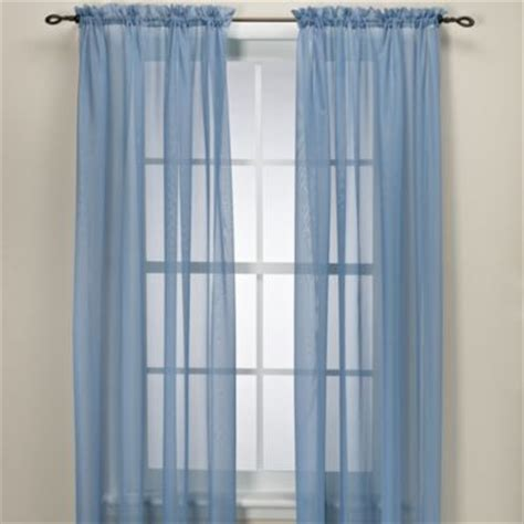 light blue curtain sheers buy blue sheer curtain panels from bed bath beyond