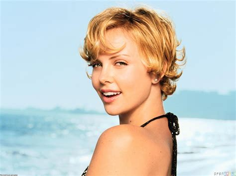 short female movie stars charlize theron lovely smile wallpaper 1123 open walls
