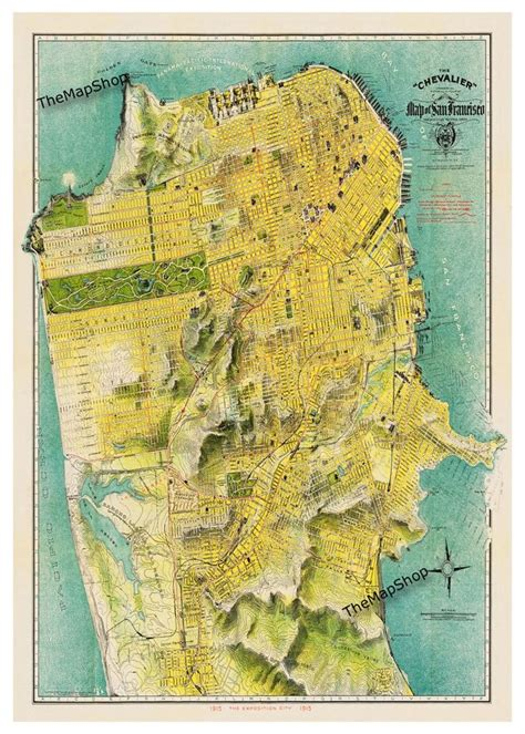 san francisco map topographic 1000 images about san francisco 1900 1920 on