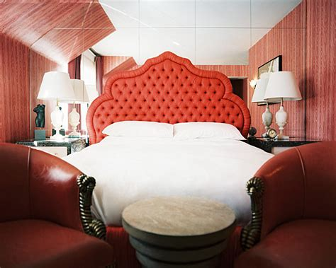 bedroom design with red wall behind bed decoist decadent jewel toned bedrooms for a glamorous interior