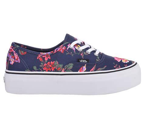 Vans Impor Sneakers vans authentic platform 4 eye floral navy sneakers schuhe