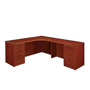 Staples Office Furniture Desks Dmi Office Furniture Fairplex 700550e 29 Quot Laminate Right Executive Corner Desk Cognac Cherry