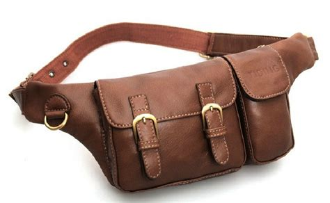 Cowhide Leather Bag Anti Theft Waist Pack Antique Leather Purse Plsbag