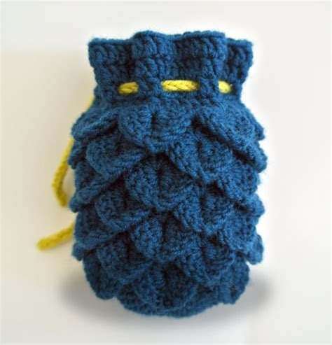dice bag printable pattern dragon scale dice bag pattern only