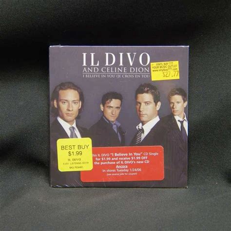 il divo and dion sealed cd single il divo and dion i believe in you