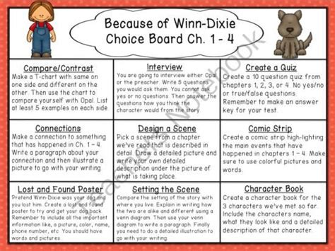 because of winn dixie book report ideas 17 best images about reading enrichment i e on