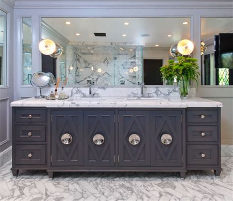 dark grey bathroom vanity gray double vanity contemporary bathroom jeff lewis