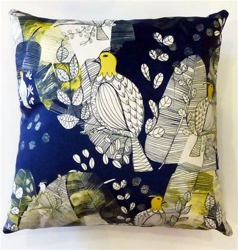 18 X 18 Decorative Pillows by Decorative Pillow Outremer Bird In Printed Velvet 18 X 18 Inches