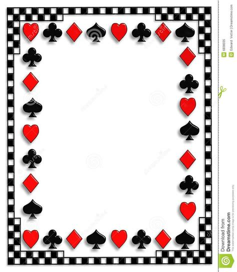 card borders suits background search casino theme