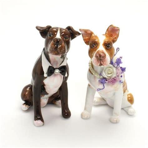 pit topper american pit bull terrier wedding cake topper figurine gift p00001 madamepomm wedding on