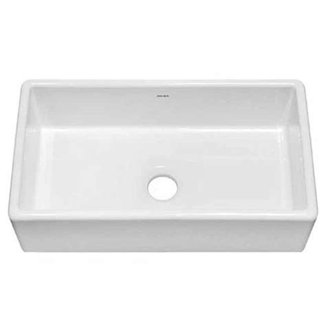 Julien Kitchen Sinks Julien 080101 Nantucket Large Farmhouse White Fireclay Kitchen Sink 27 63 X15 63 X10