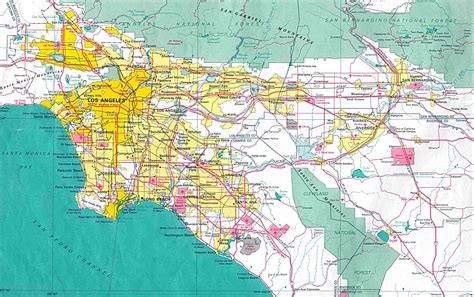 los angeles on map of usa world class american cities state map rates los
