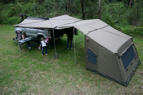 tent trailer awning oz tent foxwing awning buy online from outdoor geek