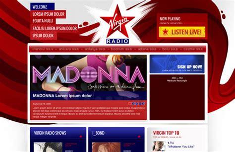 theme blog radio 75 free unlimited psd website templates free stuff