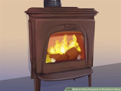 How To Clean Glass On A Gas Fireplace by How To Clean Fireplace Or Woodstove Glass 15 Steps
