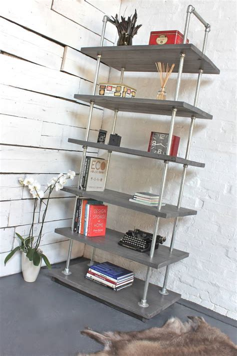 dante reclaimed scaffolding boards and steel bookcase by