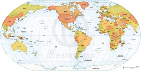 location of america in world map vector map world political robinson america one stop map