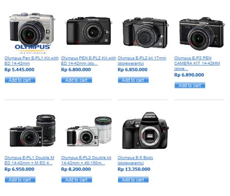 Kamera Dslr Olympus harga kamera digital slr olympus