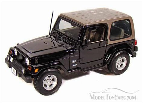 car jeep black jeep wrangler sahara black maisto 31662 1 18 scale