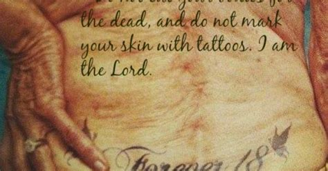 leviticus 19 28 tattoo leviticus 19 28 do not cut your bodies for the dead and
