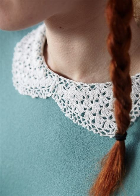 pattern crochet lace collar lacy collar 183 extract from geek chic crochet by nicki