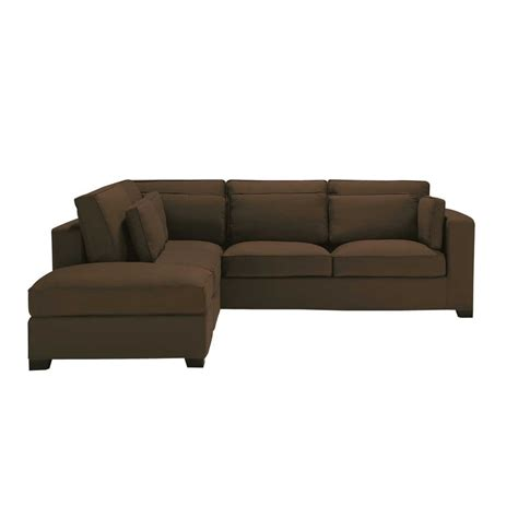 cotton sofas 5 seater cotton corner sofa in chocolate milano maisons